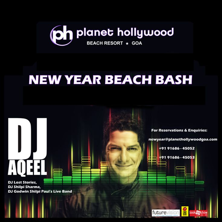 You can't afford to miss this!!  Celebrate #NewYear with DJ AQEEL at Planet Hollywood Goa.  Call: +91 9168645062 / 9168645063 for reservations.  #Party #Music #DJAqeel #DJParty #NewYearBash