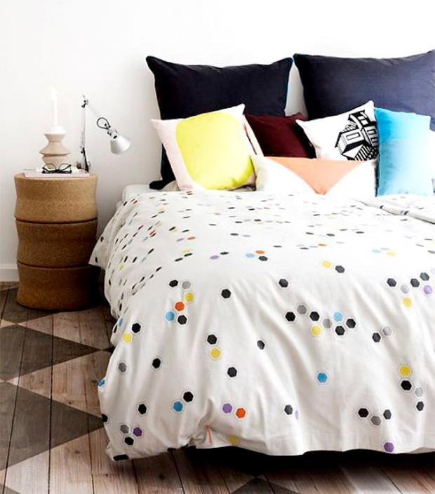 awesome einfache dekoration und mobel bettwaesche colour block #1: Bettwäsche mit Design