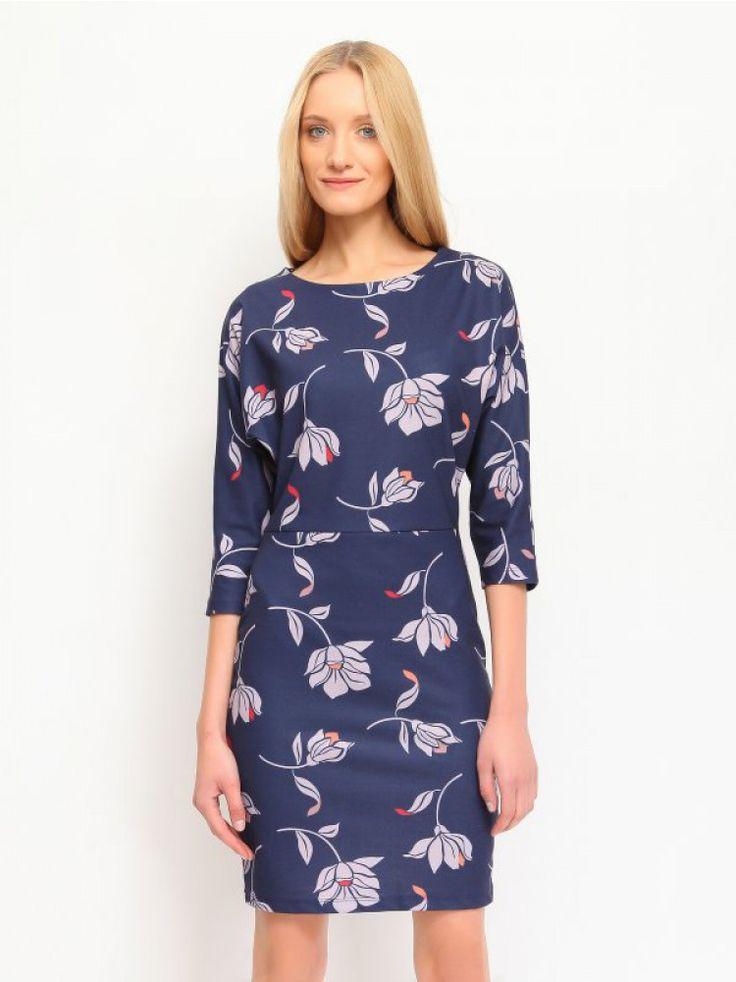 Φλοράλ φόρεμα. Χρώμα: Μπλε.
