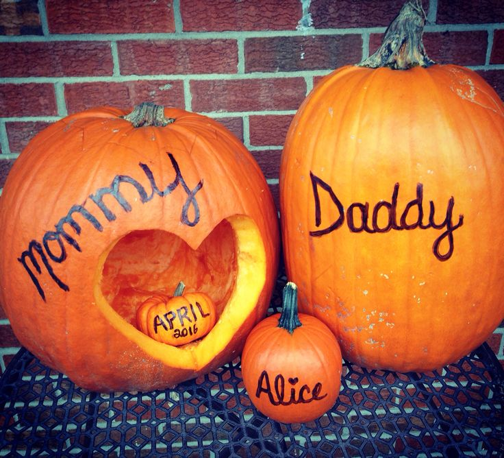 Pumpkin Pregnancy Announcement Holiday Specialties