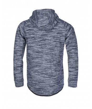 Sweat à capuche zippé homme Gov Denim bleu 163021_BL