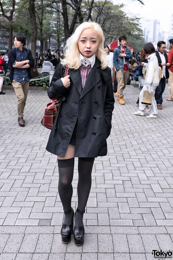 Blonde Japanese Fashion Student w/ Vivienne Westwood, Topshop & Agnes B Cute Tokyo Street Style w/ Vivienne Westwood – Tokyo Fashion News #vanitytours