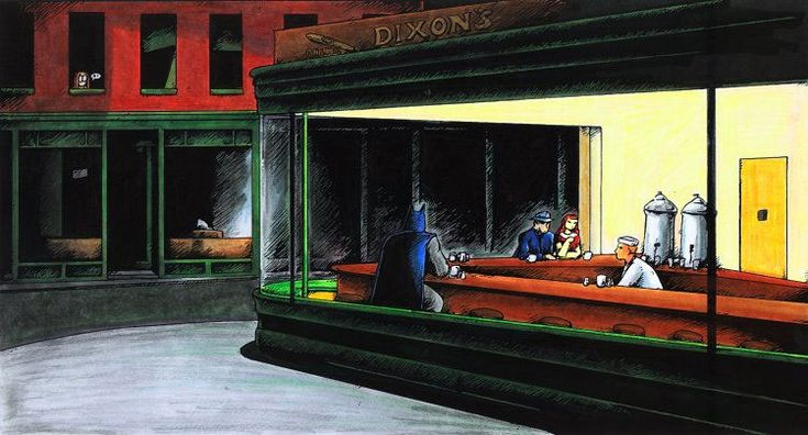 parodies de Nighthawks dEdward Hopper nighthawks parodie 006 list of design art