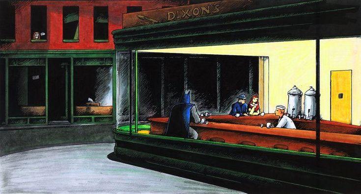 parodies de Nighthawks dEdward Hopper nighthawks parodie 006 list of design art