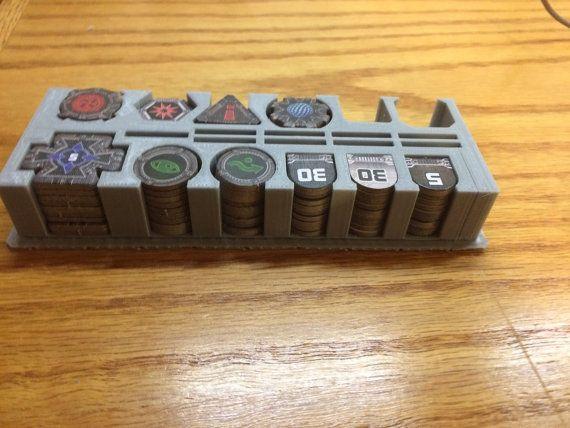 Star Wars X-wing Miniatures Token Holder Master by GearForgeStudio