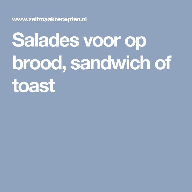 Salades voor op brood, sandwich of toast