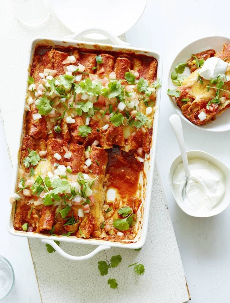 In love with this poblano chicken enchiladas recipe.