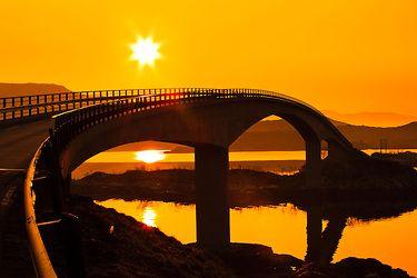 Bridge over to Frøya in Sogn og fjordan Norway