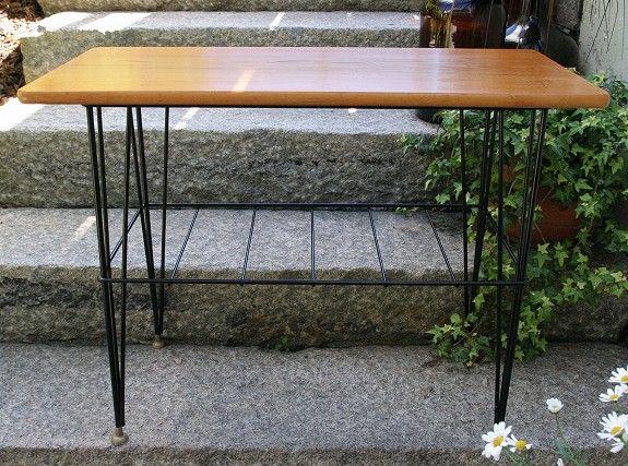 Lite bord + nattbord i teak og string 50-talls retro - FINN Torget. 800,-NOK