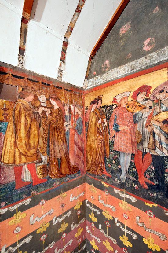 Pre-Raphaelite mural discovered in William Morris's Red House. #williammorris #design