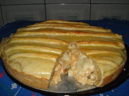 Torta cremosa de palmito - Veja mais em: http://www.cybercook.com.br/receita-de-torta-cremosa-de-palmito.html?codigo=112724