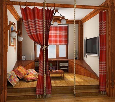 традиционная кровать-подиум