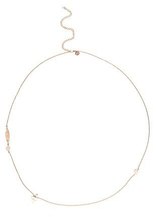 Nicole Fendel Jewellery  Heart Necklace - Rose Quartz & Rose