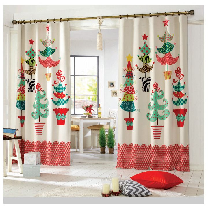 red holiday shower curtain - Google Search