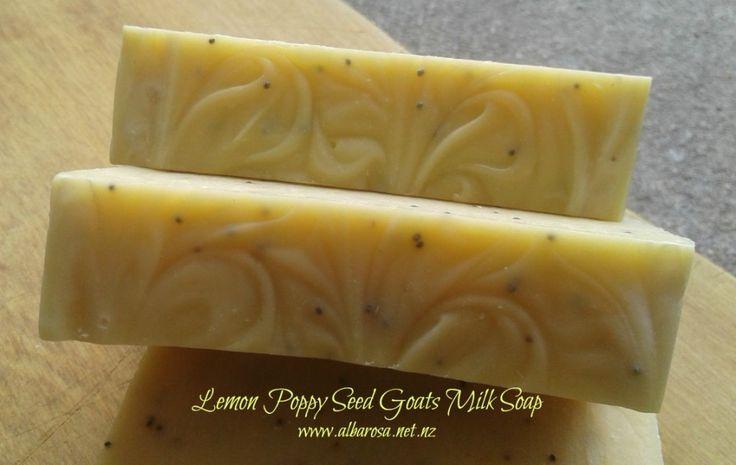 Lemon Poppy Seed Goats Milk Soap