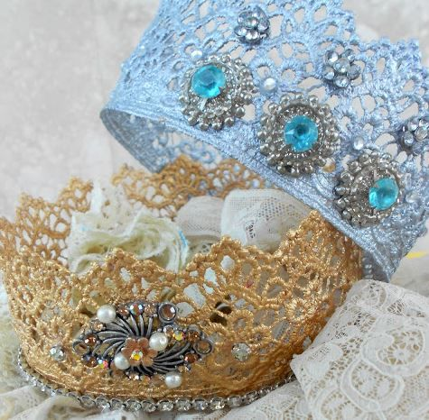 Your Princess will love these beautiful Lace Crowns and you make them in your Microwave. Perfect for dress ups or parties!
