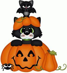 Silhouette Design Store - View Design #66206: halloween cat & bat pnc