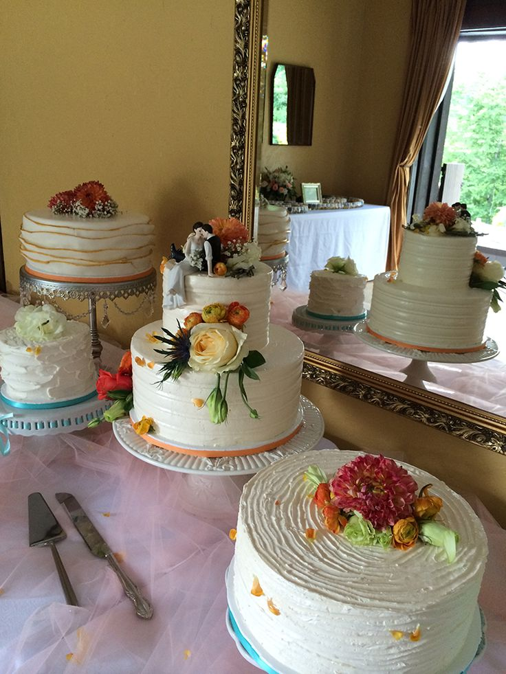 vegan wedding cakes asheville nc a wedding cake dessert table with various cakes including 21560