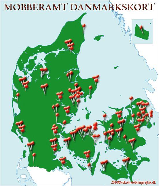 Mobbe Danmarkskort