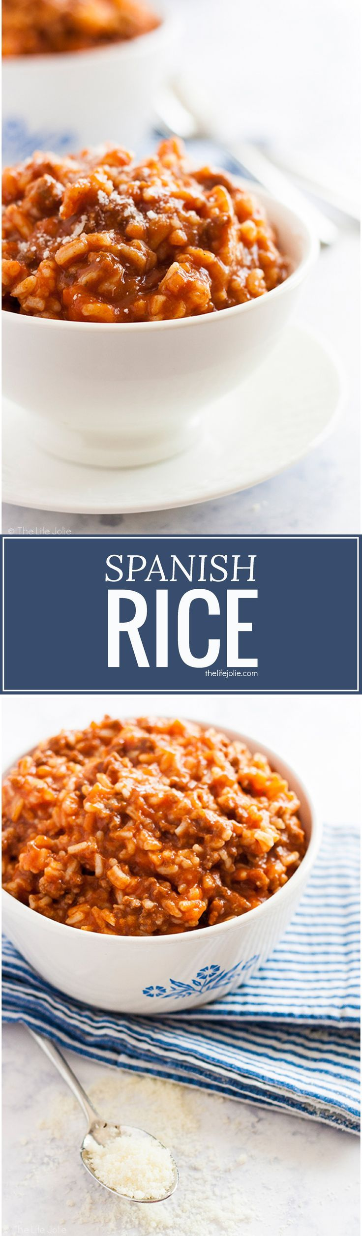 This easy Spanish Rice recipe has been a mainstay in my family for as long as I can remember. It's a really quick recipe which makes it perfect to make on a weeknight and is great for back-to-school. Delicious tomato sauce combines so well with ground bee
