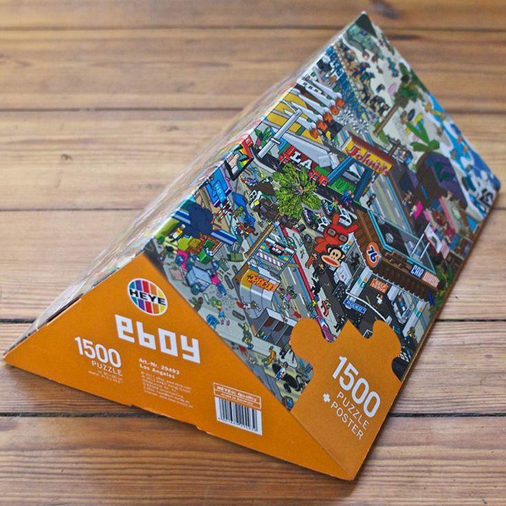 eBoy Los Angeles 1500pc Puzzle by eBoy Puzzles on POP.COM.AU #popaustralia #puzzle #eboy