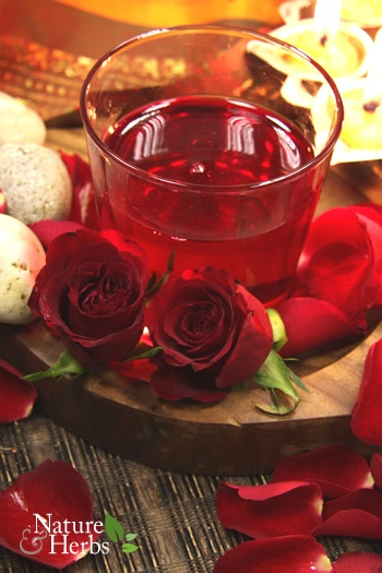 Gulab Sharbat : traditionally served at Egyptian (middle eastern) weddings and events  Ingredients:  1 and 1/2 cup freshly picked rose petals   3/4 cup boiling water  1/4th tsp cardamom seeds  3/4th cup sugar  1/4th cup strained fresh lemon juice  2/3rd cup pomegranate juice  5 cups cold water