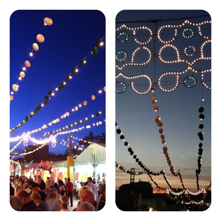 Lights of the Feria de Mayo in Torrevieja