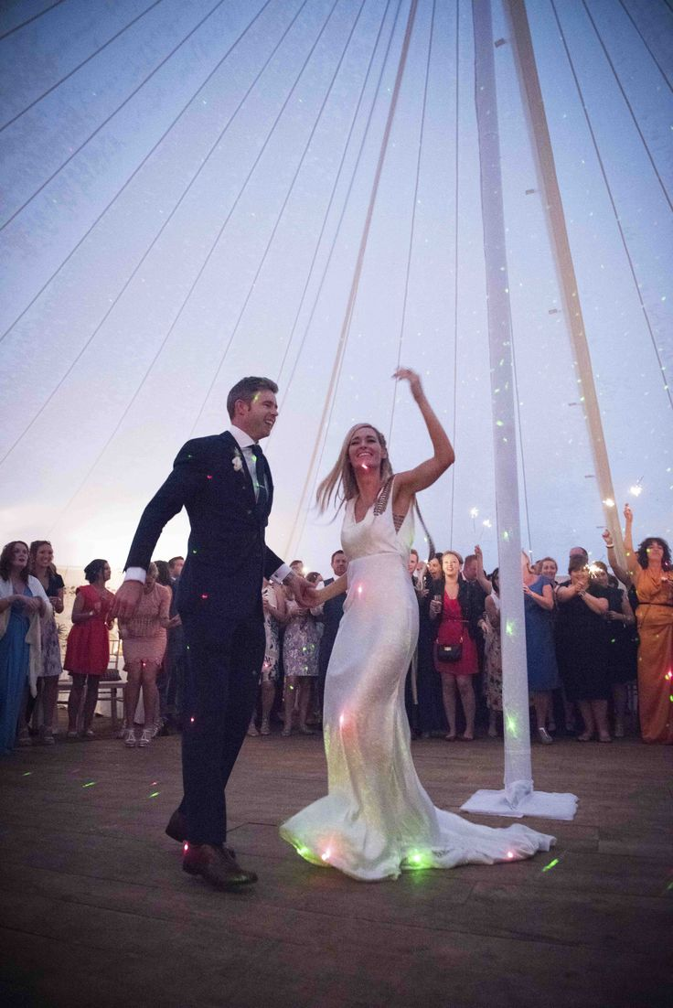 Bride & Groom dancing their first dance in our Traditional Round Tent at Ballintubbert House & Gardens.  By John Lalor Photography