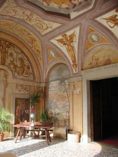 Villa Godi,  designed by Andrea  Palladio (please note the ceiling)