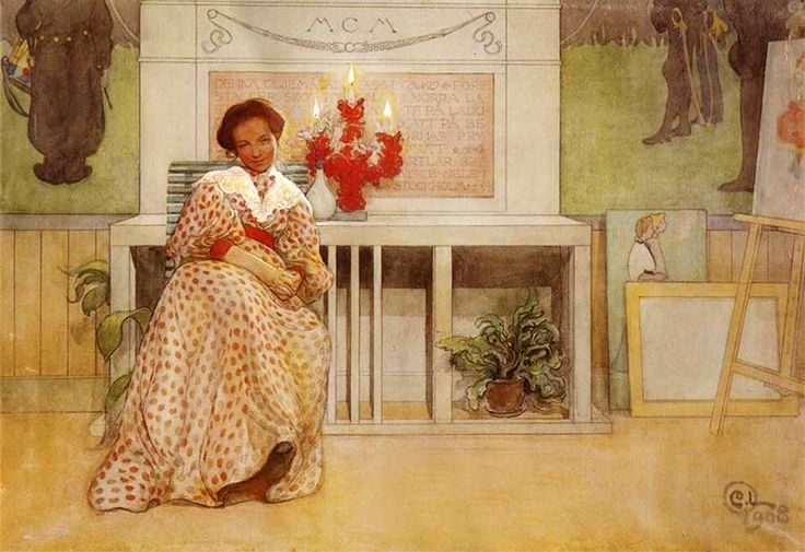 'After the Dance' by Carl Larsson Nordic Thoughts