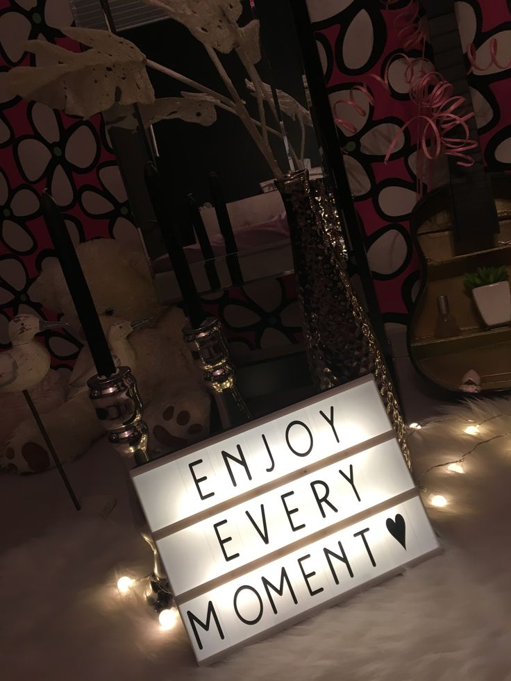 Lightbox • quotes • enjoy every moment ♡