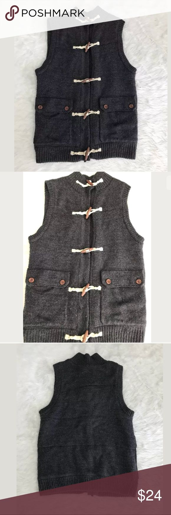 Topman Knitted Toggle Closure Vest Great thick vest! In good condition! No trades. Offers welcomed! 🖤 Topman Jackets & Coats Vests