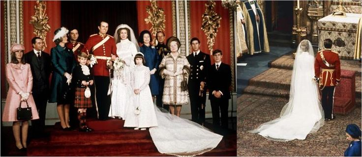 HRH Princess Anne & husband, Captain Mark Phillips, Westminster Abbey - 14 Nov 1973