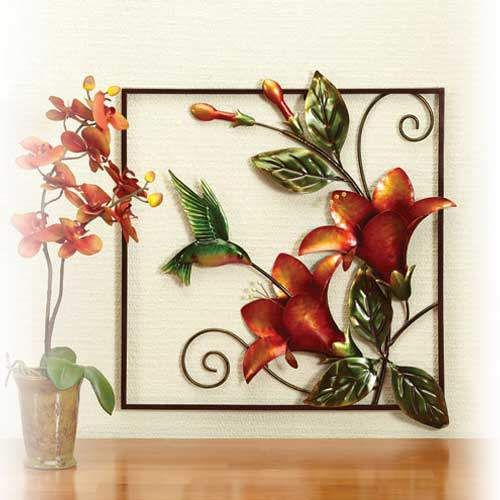 69 best images about metal wall art on pinterest for Hummingbird decor