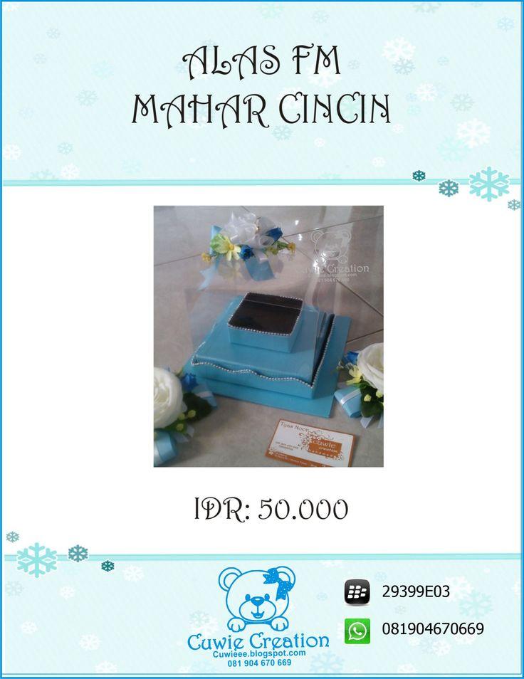 Kotak Mahar Cincin Pernikahan Perkawinan cuwie creation  instagram @cuwiecreation