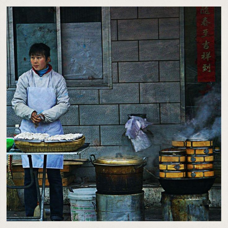 Dumpling Vendor. Beijing, China