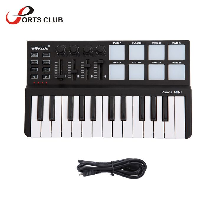 High Quality Worlde mini Portable Mini Keyboard and Drum Pad 25-Key USB MIDI Controller