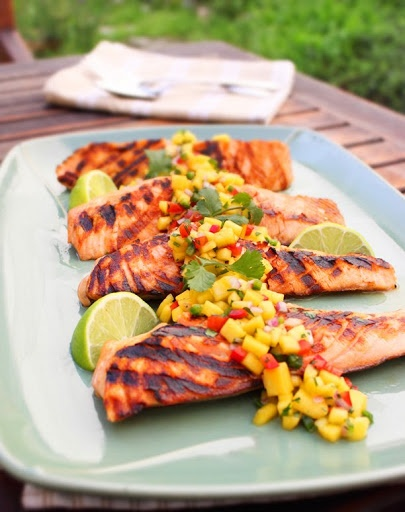 Food Wishes Video Recipes: Cookbook Testing: Grilled Salmon with Fresh Mango Salsa