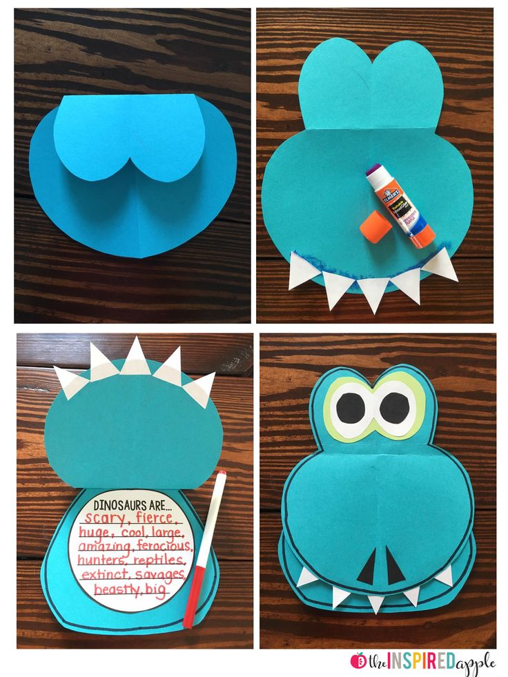 Love this adorable dinosaur! An awesome free craft for a dinosaur unit!