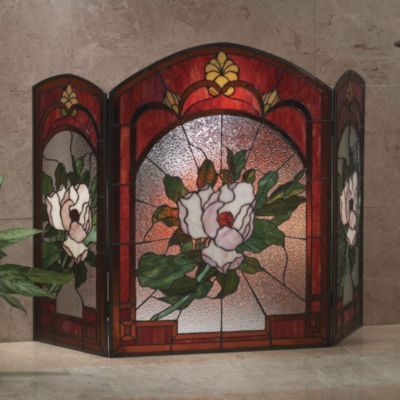 Top 25 Ideas About Stained Glass Fireplace Screens On