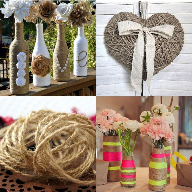 Big Sale!! 10m/pcs Jute Twine String Vintage Rustic Wedding Decoration Natural Twine Drawstring Rustic Decor DIY Supplies