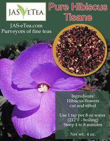 Pure Hibiscus Tisane (Caffeine Free) - 4ozhttp://www.jas-etea.com/pure-hibiscus-tisane-caffeine-free-4oz/