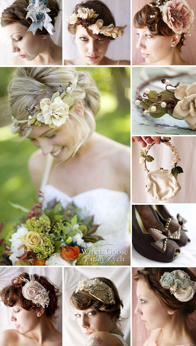 Coiffure de la mariée : couronnes de fleurs