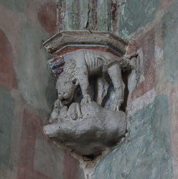 Lidzbark Warmiński Zamek, Refektarz, Gotycki Wspornik