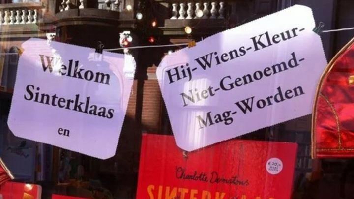 TILBURG - Bij kinderboekenwinkel De Zevensprong in Tilburg hebben ze schoon genoeg van de Zwarte Piet-discussie die Nederland al twee jaar bezighoudt. Op de etalageruit van de winkel aan de Nieuwlandstraat hangt een briefje met daarop de grappig bedoelde boodschap 'Welkom Sinterklaas en hij wiens kleur niet genoemd mag worden'.