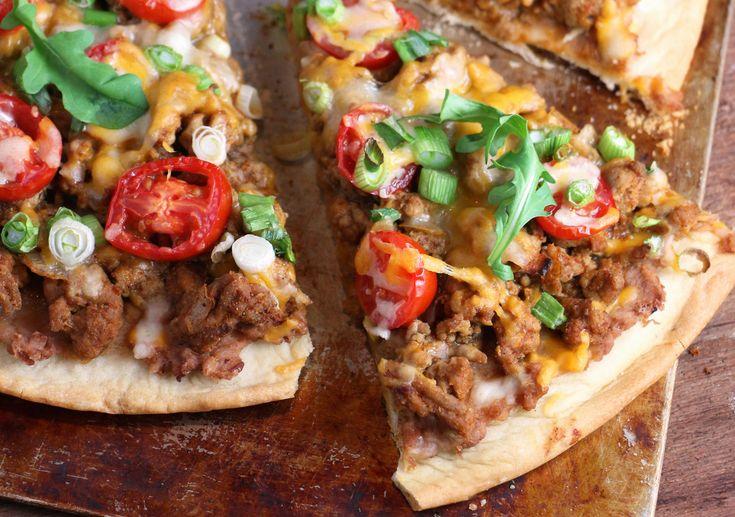 Pizza taco au dindon