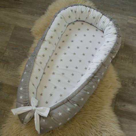 Impresionante doble cara bebé nido para el recién nacido babynest, dormir cama, cuna, snuggle nido, patrón de bebé nido, nido del sueño, durmiente de co