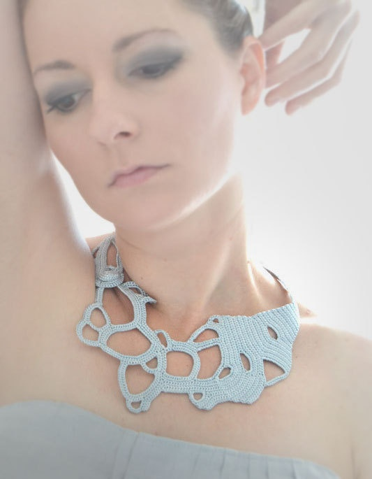 Silvergrey okapi necklace by okapiknits on Etsy