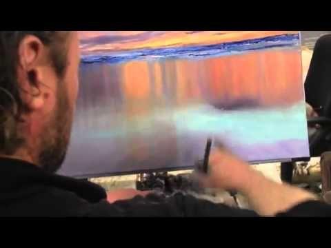 Лес и горы у озера, живопись для начинающих, курсы в Москве - YouTube