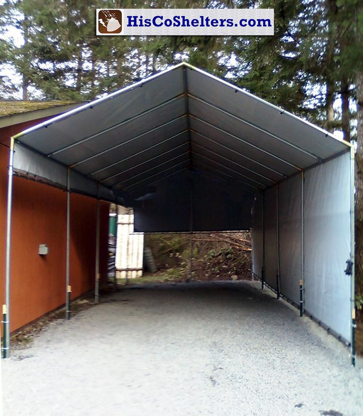 Portable Rv Shelters Metal : Make your own portable carport shelter long lasting